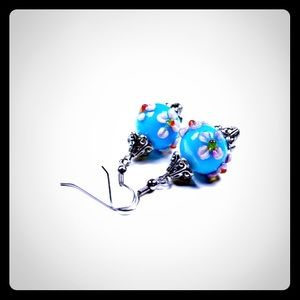 Jewelry - 💖✨Tropical Blue Flowers Earrings✨💖